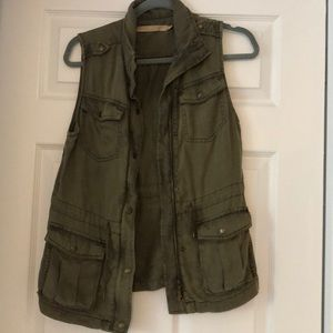 Max Jeans army green vest - size xs